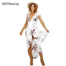 Для женщин Цветочный принт вечерние платье Повседневное дамы Для женщин пляжное платье в богемном стиле ретро Винтаж Элегантный Осень Vestidos весенние платья