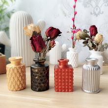Мини 3D бутылки вина ваза силиконовые формы стерео DIY гипсовая силиконовая форма домашний декоративный горшок глина ремесла гипсовые формы 4 дизайна