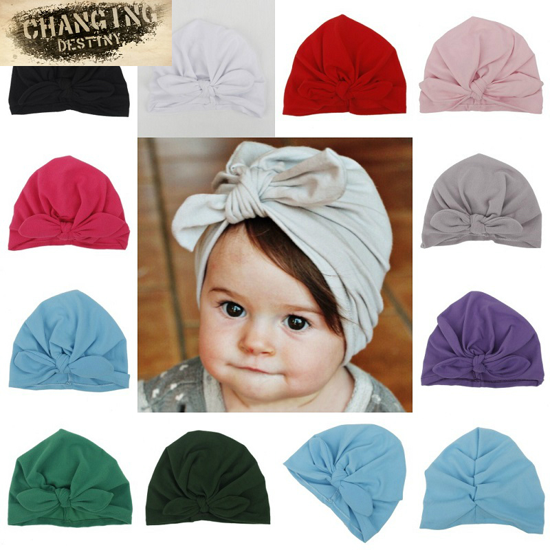10 Colors Spring Cute Newborn Baby Hats Rabbit Ear Knot Caps India Hat Cotton Unisex Girls Boys Hats Warm Infant Hat Candy Color washed patchwork baseball caps hats for women men unisex cotton dad hat cap casual summer sun hat vintage snapback black color