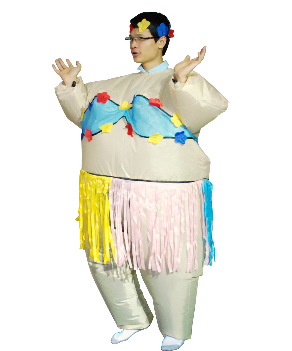 05ebf9542bf5c Adult Inflatable Hawaiian Dance Costume Funny Game Cosplay Dress Halloween  Party Clothes-in Movie & TV costumes from Novelty & Special Use on  Aliexpress.com ...