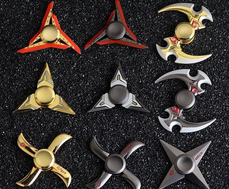 LOL genji ninja darts Tri Spinner Fidget Toy metal EDC Fidgets Hand Spinner Autism and ADHD