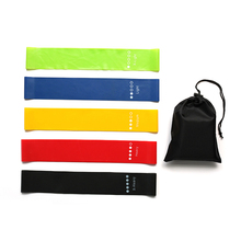 5 Colors GYM Fitness Resistance Bands Elastic Bands For Exercise Pull Rope Indoor Outdoor Training Body Yoga Rubber Bands