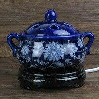 220V Ceramic Incense Burners Portable Porcelain Censer Buddhism Incense Holder Home Teahouse E