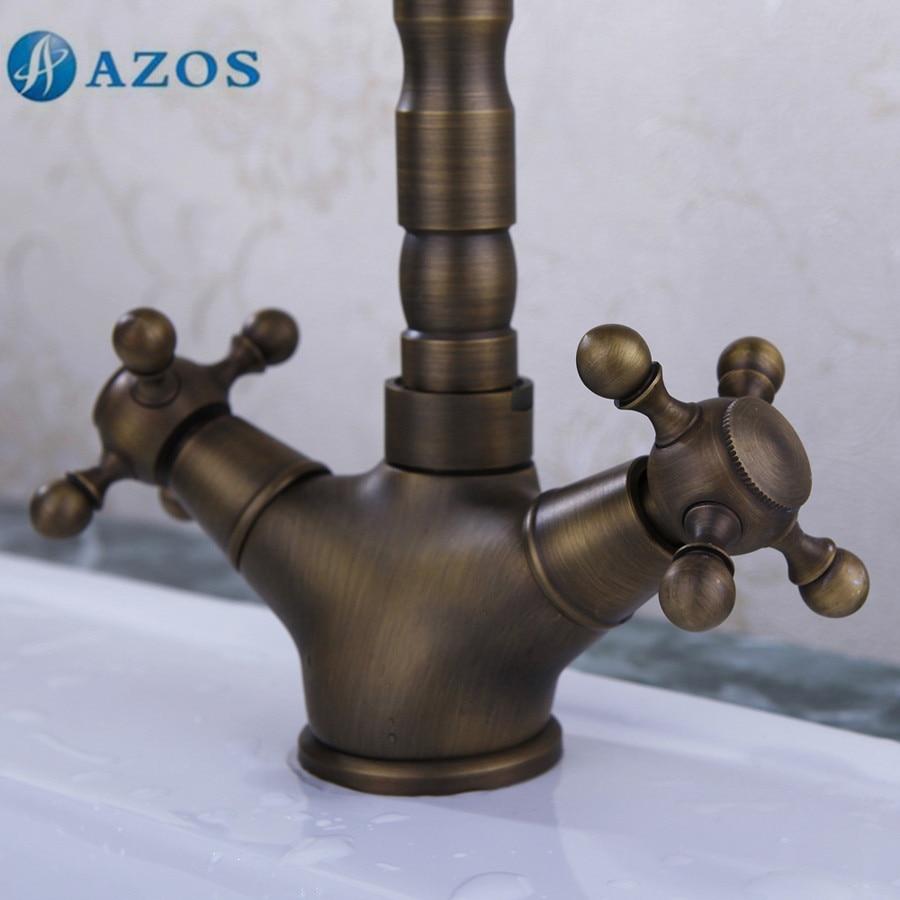 Azos Badezimmer Tisch Armatur Messing Antik Messing Farbe