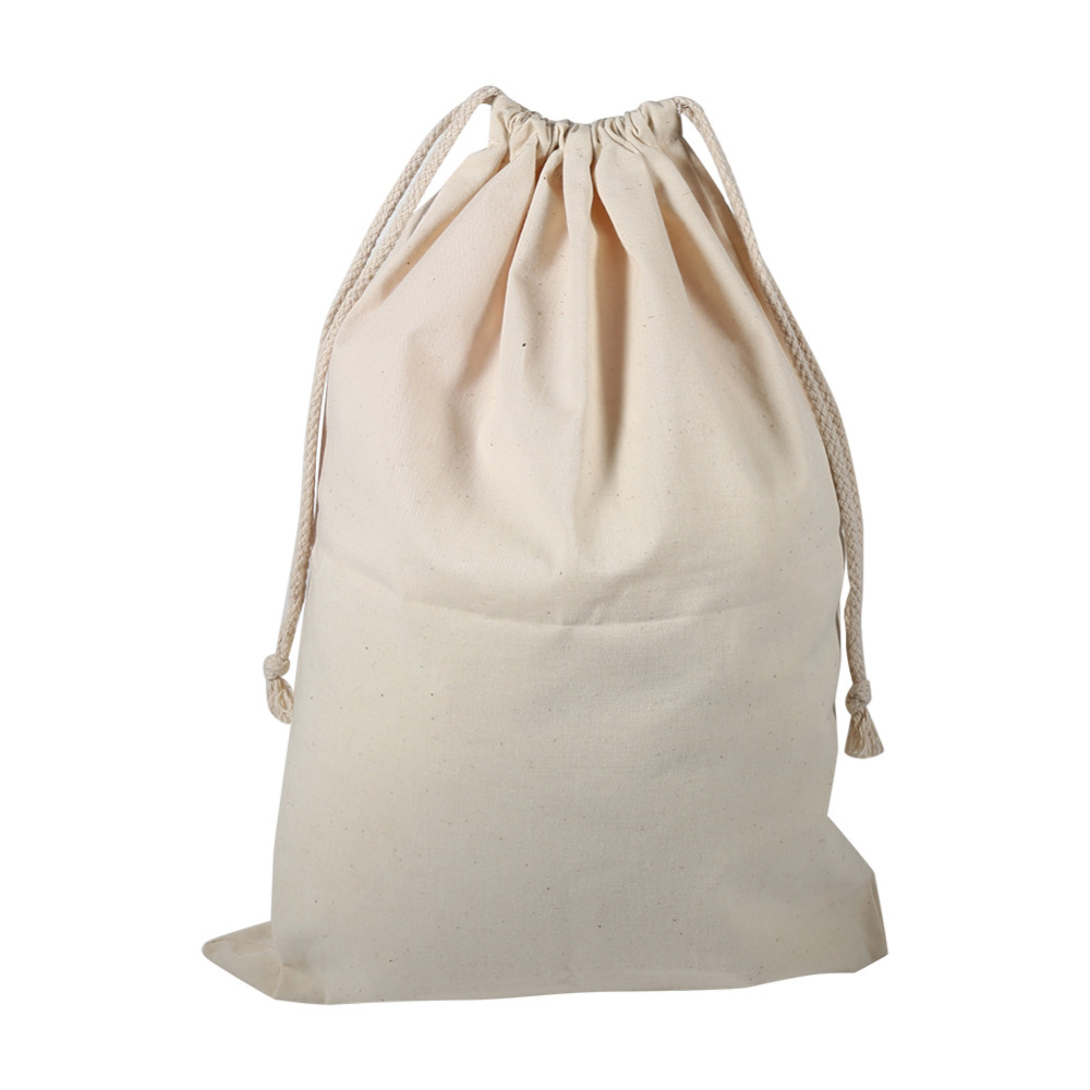 Drawstring Storage Cotton Linen Bag Laundry Sack Stuff Bags For Travel Home Sundry Dust Cloth In Baskets From Garden On