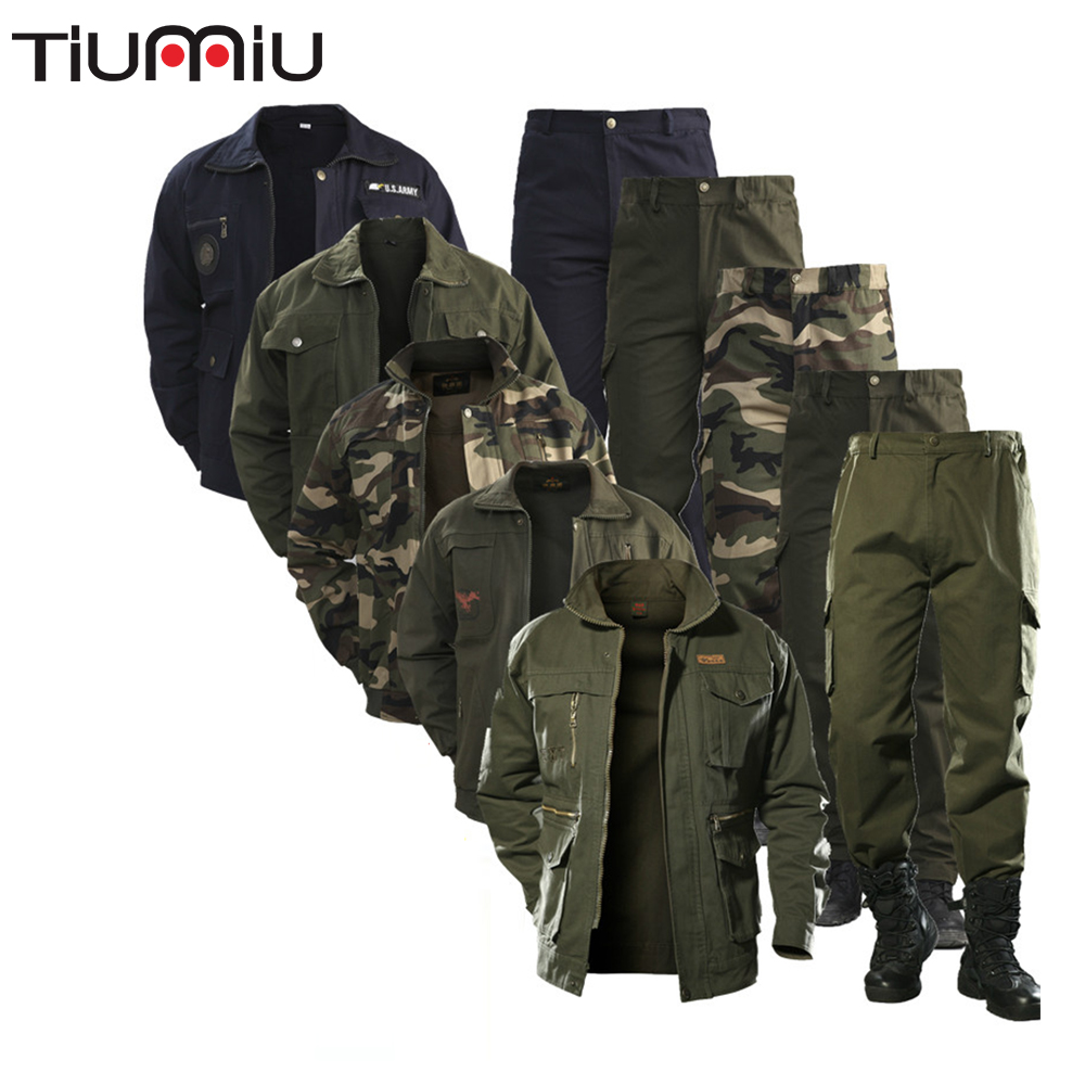 Military Uniform Workwear Suit Male Wear Camouflage Clothing Men's Labor Site Tooling Us Tactical Military Uniform wwii german(China)