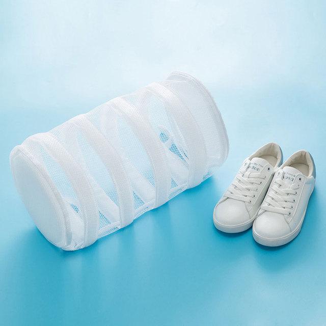 Máquina de lavar roupa especial preguiçoso sapatos cuidados wash bag pode ser pendurado secagem e lavagem saco de armazenamento sapatos de UM