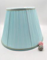 E27 lamp shade for table lamp bedroom lamp shade round shape Light blue cloth art lamp shade