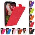Бесплатная Доставка 10 Цветов Роскошные PU Кожа Флип Case для LG Optimus G2 D802 Вертикальный Чехол Телефон Сумка Защитной Оболочки кожи