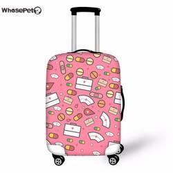 WHOSEPET 3D мультфильм милый медсестра печати чемодан чехол эластичный стрейч защита багажа от грязи защитный Чехлы для мангала для женщин