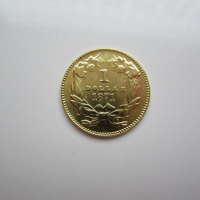 1 Gold 1871 Indische Prinzessin Gold Dollar Münzen Kopieren In 1