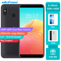 Чехол-накладка Ulefone S9 Pro MTK6739 4 ядра Android 8,1 смартфон 13MP + 5MP двойные задние камеры 5,5 дюймов HD + 3300 мА/ч, 4G, мобильный телефон