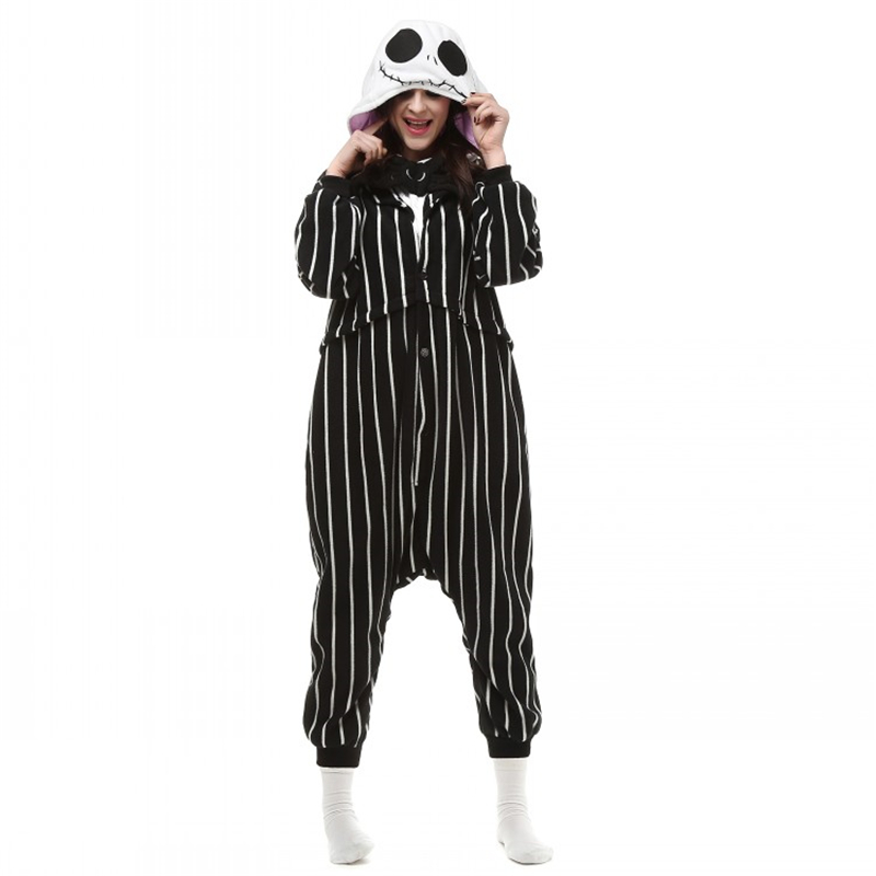 Detail Feedback Questions about Cosplay Cartoon Anime The Night Before  Christmas Jack Skellington Skeleton Costume Onesie Party Christmas Pajamas  Plus Size ... 0a5eabf50