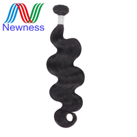 Newness Hair Raw Indian Virgin Hair Body Wave Bundles One Piece 12 30 inch No Tangle Human Hair Weaving Free Shipping