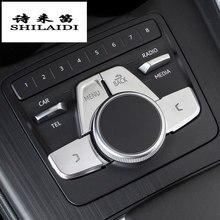 Capas de painel automotivo para audi a4 b9 a5, botões multimídia decorativos, interior automotivo