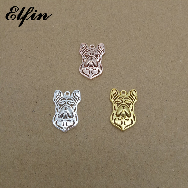 Elfin Wholesale Trendy French Bulldog Pendants Animal Fashion Pet Dog Jewelry French Bulldog Women Pendant Best Gift For Friend