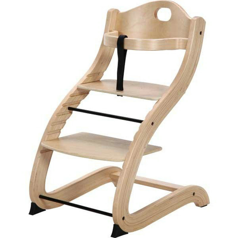 Primo Products Cozy Tot To Teen Chair, Adjustable High Chair, Baby Dinning Booster Seat, Natural Birch Wood Baby Feed chair