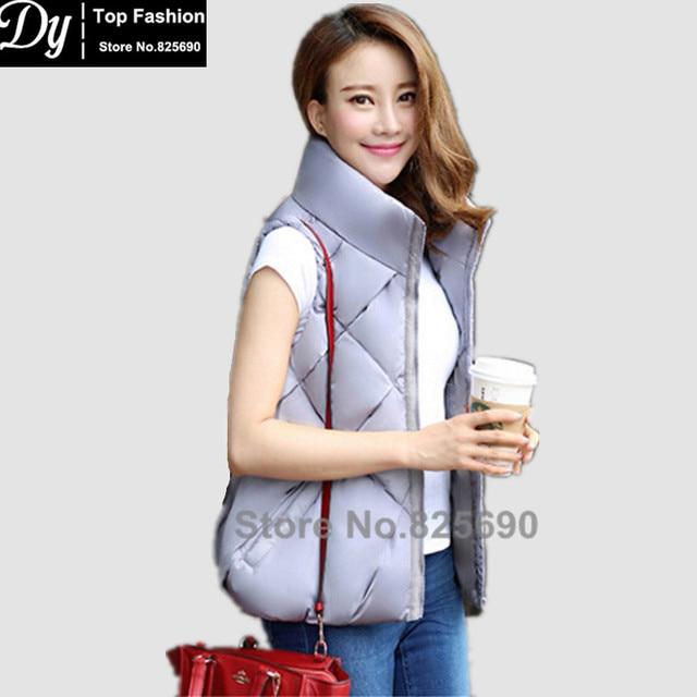 67561a5c3 Novas Mulheres Jaqueta de Algodão Acolchoado de Inverno Com Capuz Colete  Jaqueta de Inverno das Mulheres