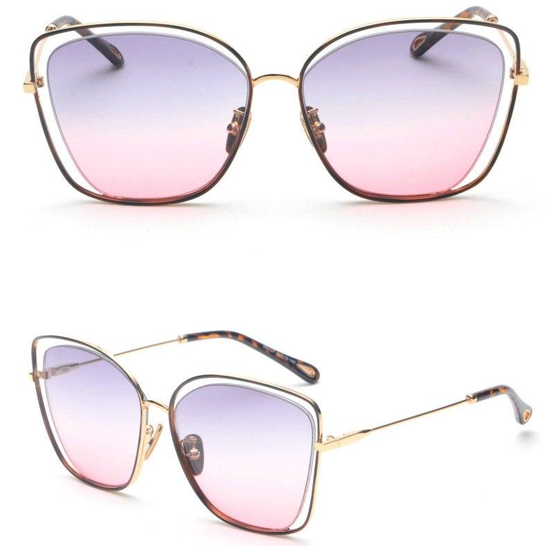 Trendy fashion sunglasses colorful gradient reflective sunglasses female boutique MZ201-250 glasses anti