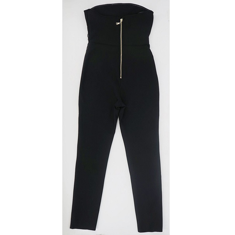 Sexy New Style Black Off Shoulder Long Bandage Jumpsuit Casual Sleeveless Bodycon Jumpsuits Bried Slim Basic Tank Women Rompers