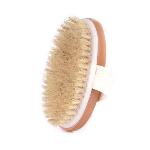 corpo escova seca natural de cerdas de javali organico pele seca escova do corpo escova