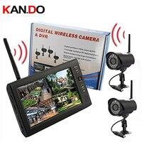 Функция записи 2,4 г получить + 2 Камера s 7 дюймов ЖК дисплей монитор 2,4 г Беспроводной приемник CCTV Камера CCTV приемник Радионяня