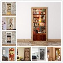77×200 см библиотека наклейки на Doorl самоклеящиеся Стикеры для двери Peel и самоклеящиеся обои DIY Декоративные наклейки для дома обновления