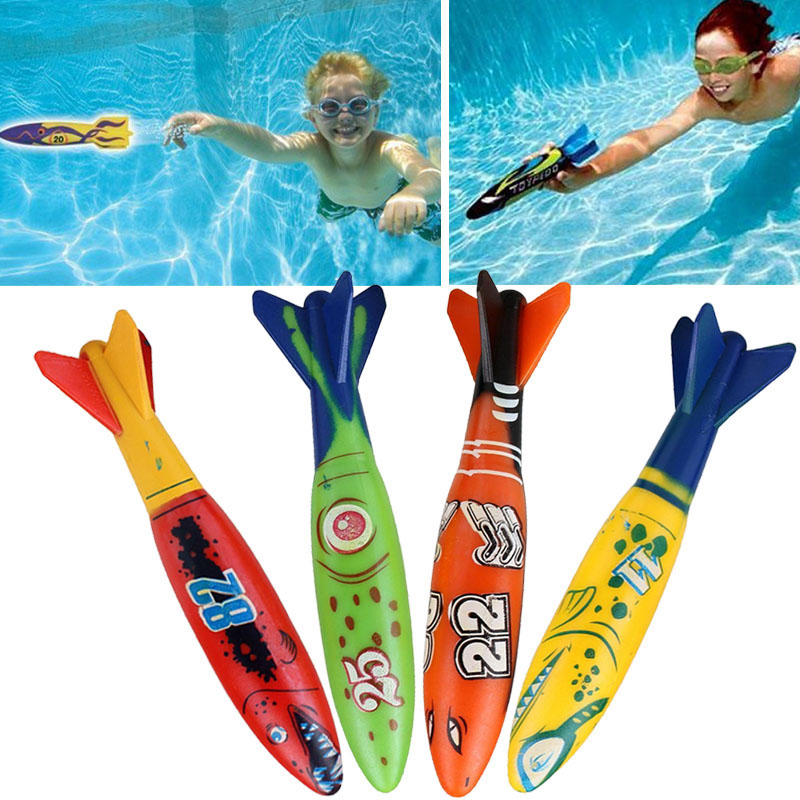 Shark Torpedo Rocket Throwing Toy Diving Game Toy Seaweed Grass Swimming Pool Accessories Underwater Dive Sticks Toys #2