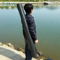 Qindmig تعديل 1.1-1.8 متر الصلب abs أنبوب قارب قصبة الصيد إغراء قضيب أنبوب حقيبة