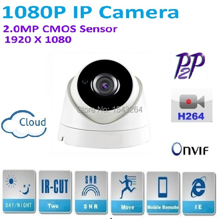 H.264 2MP Security 1080P IP Camera Full HD1920*1080P Indoor dome Network camera,Support IR-CUT Filter,Onvif,P2P,plug and play h 264 mini dome ip camera 1080p hd security indoor cctv camera 2mp 1920 1080 ir cut onvif p2p support phone android ios view