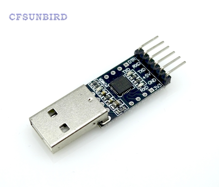 CFSUNBIRD 6Pin USB 2.0 to TTL UART Module Serial Converter CP2102 Replace Ft232 usb to rs485 module black
