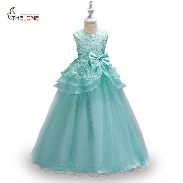 MUABABY Big Girls Party Dress Sleeveless Flower Princess Birthday ...