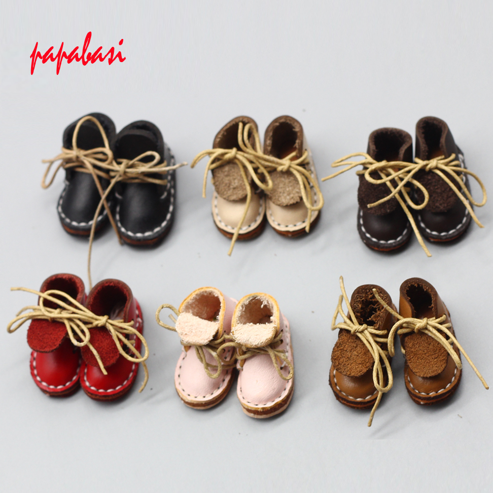 Doll Accessories shoes for BJD blyth doll 1/6 30cm 1/8 DOLLS Leather shoes free shipping uncle 1 3 1 4 1 6 doll accessories for bjd sd bjd eyelashes for doll 1 pair tx 03