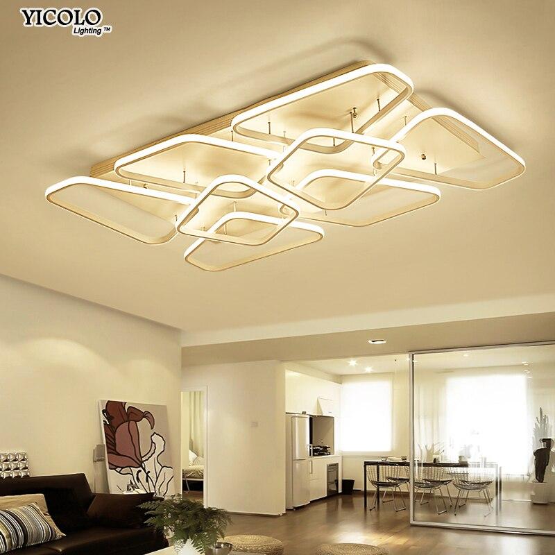 Современные потолочные светильники лампы для гостиной спальня акриловые внутреннего освещения приспособление с дистанционным управление...