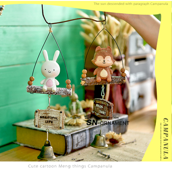 Creative Pastoral Resin Wind Chimes Cartoon Japanese Style Totoro Succulent Door Bell Hanging Decorations Gifts 5