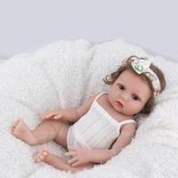 48cm Newborn Baby Simulation Doll Reborn Baby Doll Toy Vinyl Cute Kids Lifelike Playmate Toy Infant Sleeping Accompanying toys