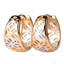 New Fashion 18K Yellow Gold Plated Vintage Hollow Fancy Hoop Earrings Wholesale (GULICX E403.2)