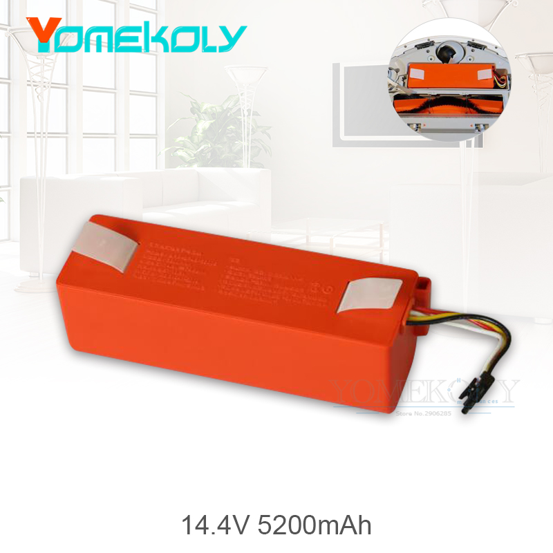 1PC 5200mAh li-ion 18650 Battery for Xiaomi Mi Robot Vacuum Cleaner Accessories Parts Replacement Battery for Xiaomi Mijia 5200mah 10 8v 92p1137 li ion for ibm