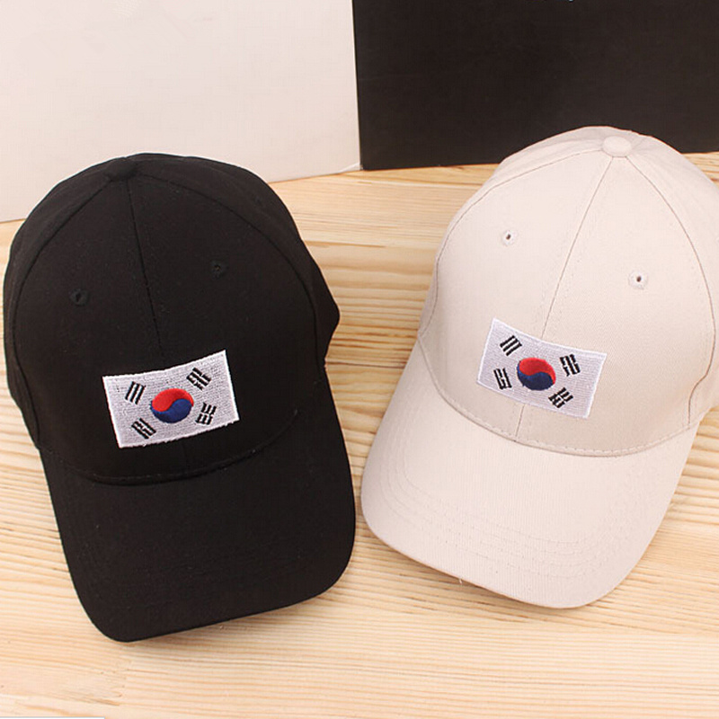 2017 Fashion Golf Boys Korean Flag Hat Cotton Baseball Cap Snapback  Hip Hop Women Casquette Casual Gorras  Sport Hat