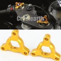 2Pcs Universal 14mm 17mm 19mm 22mm CNC Motorcycle Fork Preload Adjusters Aluminum Red Gold Blue For