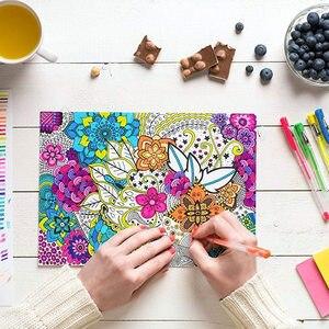 Image 3 - Ccfoud 100 צבעים ג ל עט סט שרטוט ציור צבע עטים עבור בית ספר משרד מכתבים מתכתי פסטל ניאון גליטר ג ל עטים