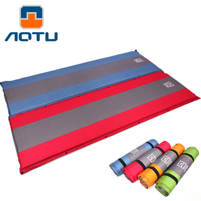 5CMthick mattress Automatic Inflatable Mattress Outdoor Camping Pad Self-Inflating Moistureproof Picnic Tent Mat spliced air mattress self inflating pad automatic inflatable camping mat moistureproof folding tent bed outdoor sleeping airbed