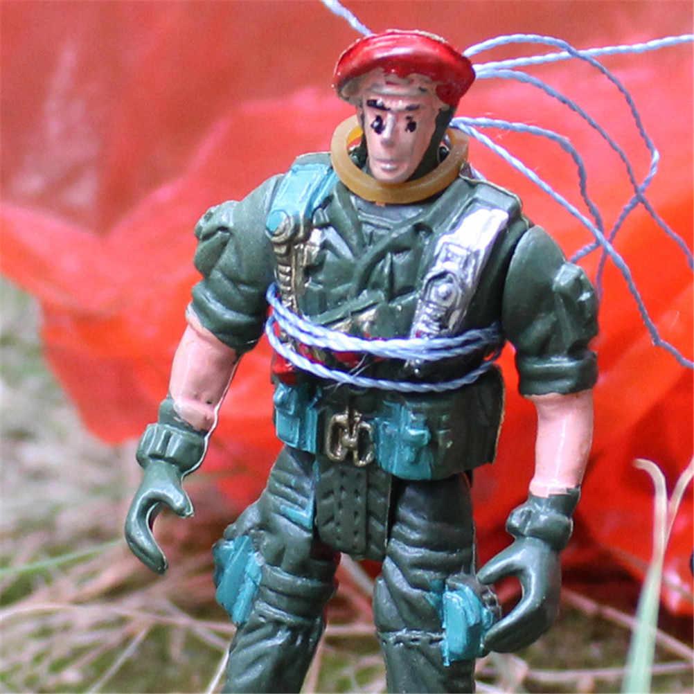 1 pçs clássico montado forças especiais paraquedas brinquedo jogando mão nostálgico guarda-chuva novidade brinquedos figuras de brinquedo de ação