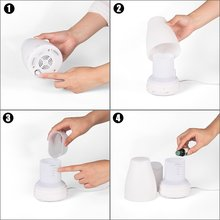 120ML 7 Color Change -Aromatherapy Air Humidifier -LED Ultrasonic Mini Air Humidifier Purifier Home Mist Maker Aroma Diffuser