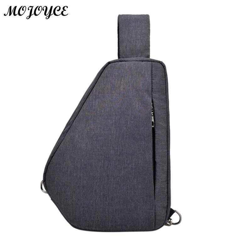 Casual Simple Men Sling Chest Pack Zipper Shoulder Laptop Satchel Crossbody Handbag Soli ...