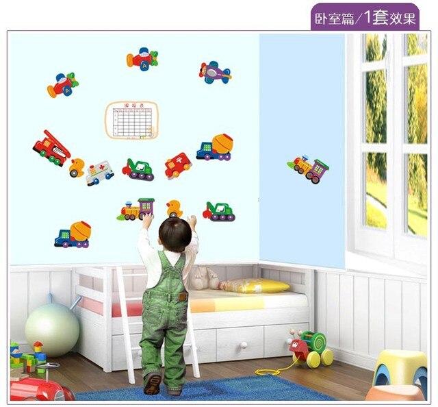 Ay643 Baby Nursery School Children S Bedroom Dorm Room Decor Cartoon Cars Wall Stickers