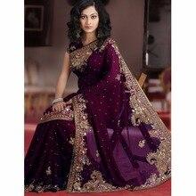 Wunderschöne Saudi-arabien Lila Abendkleider Lange Perlen kristall Chiffon Promkleider robe de soiree vestido de festa