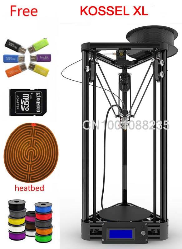 1kg filament kossel XL black or gold heated bed Machine kit 3d printer kossel k800 XL 3d printer