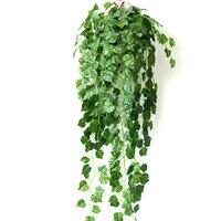 5 шт. 90 см искусственные растения зеленый листья плюща искусственный Виноградная лоза поддельные листья Главная Свадебные украшения