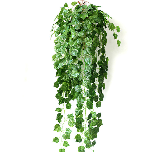 5 pieces 90cm artificial plants green ivy leaves for Artificial grape vines decoration